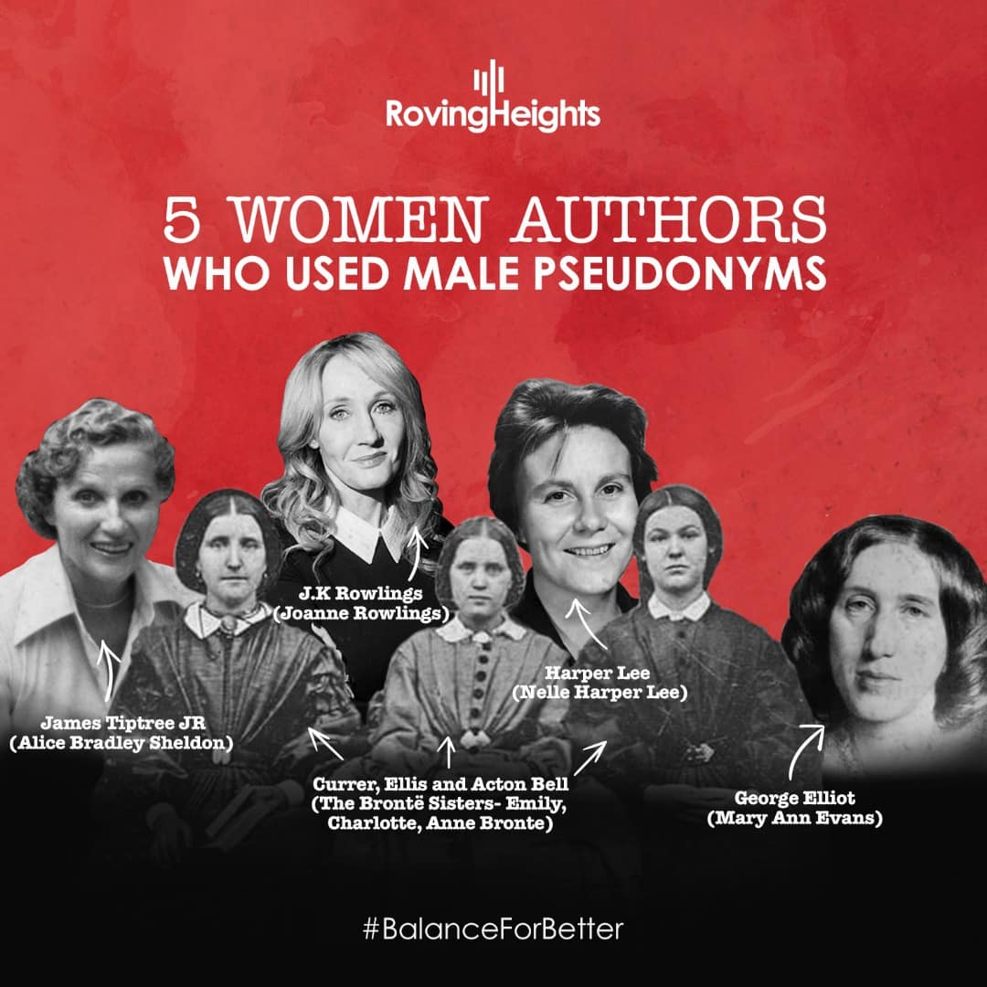 5 Women Authors Who Used Male Pseudonyms
